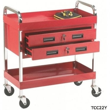 Tool Trolley - 2 Shelf/2 Drawers