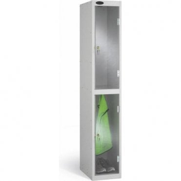 Two Compartment Clear Door Lockers