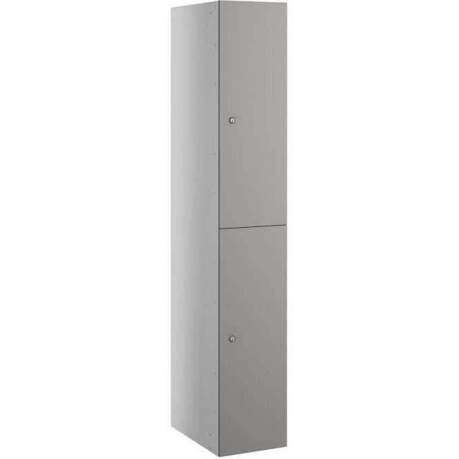Two Compartment Satin Laminate Door Locker