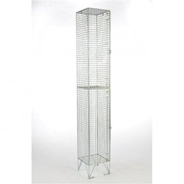 Two Compartment Wire Mesh Lockers