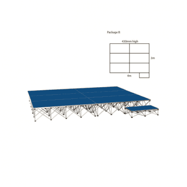 Ultralight Stage Package B Width4000 x Depth3000mm