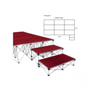 Ultralight Stage Package D Width6000 x Depth3000mm