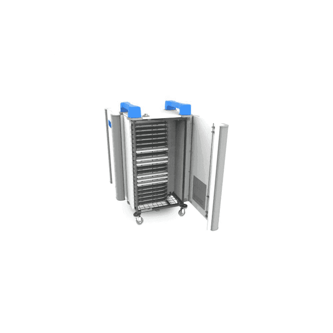 UniCabby 20H - 20 port mixed device trolley - horizontal storage