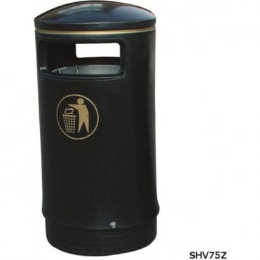 Victorian Outdoor Hooded Top Litter Bin
