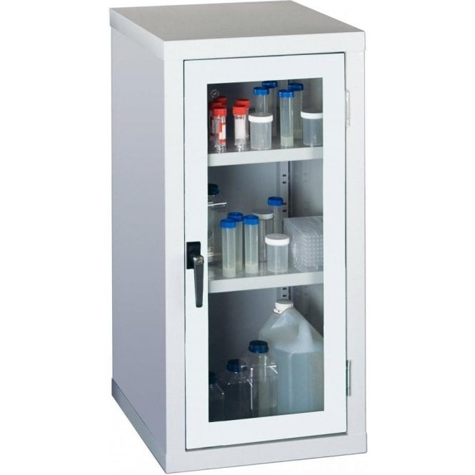 Visible Storage Cabinet - 2 Steel Shelves