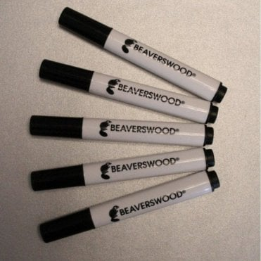 Wet Wipe Marker Pens Black