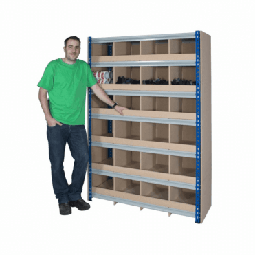 Z Rivet Pigeon Hole Shelving